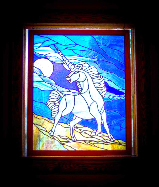 yosemite hotel stained glass window